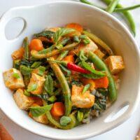 Vegetable Tofu with Kagome Thai Curry_YouTube Thumbnail