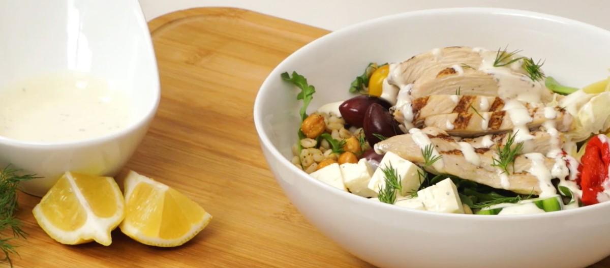 Get Saucy Mediterranean Grain Bowl